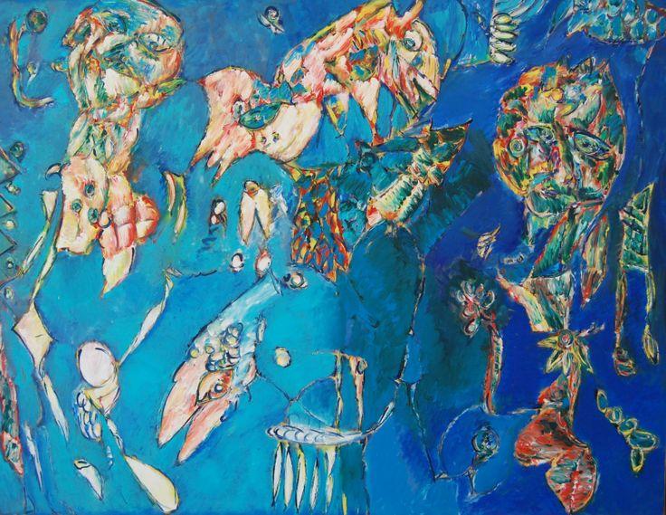 Nest of the Bird by Carl-Henning Pedersen, 1996. http://denmarkart.blogspot.nl