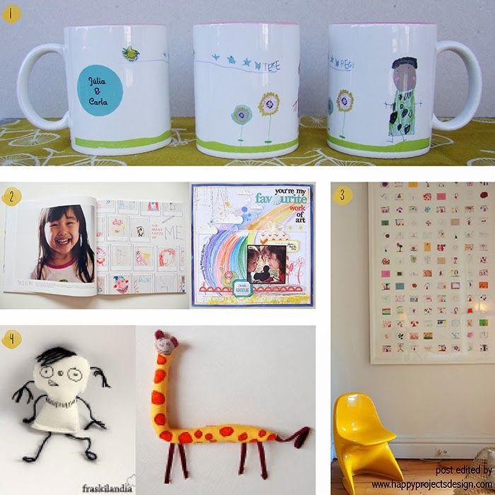 ideas creativas de regalar dibujos de niños