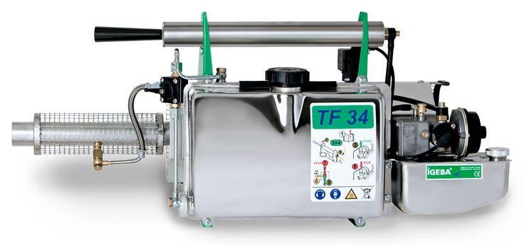 Generador de gotas que salvan vidas TERMONEBULIZADOR IGEBA - TF 34  Peso: 6,6 Kg  Depósito de producto: 5,7 Lts Consumo de combustible: 1,1 l/h Rendimiento de cámara de combustión: 10,/ 13.6 kw / cv Salida de solución max. (base de aceite): 25 l/h Material: acero inoxidable