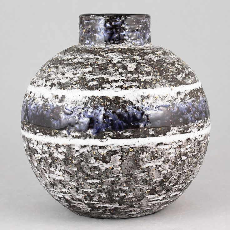 Ingrid Atterberg (1960s) Swelling Rough Chamotte Vase