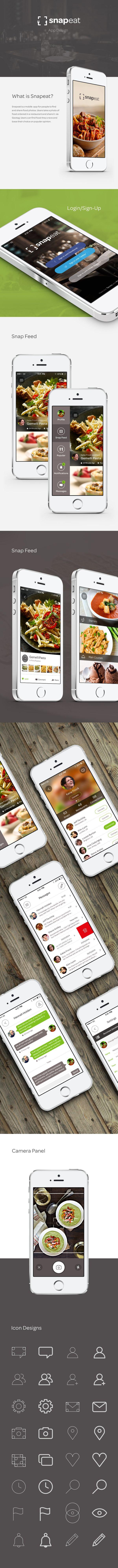 SnapEat | Logo & App on Behance