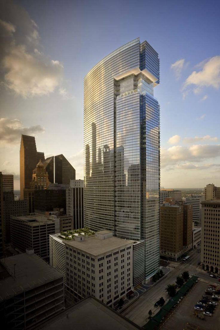 BG Group Place in downtown Houston I Hine's international real estate firm