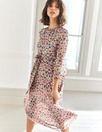 Grace Silk Midi Dress (Nude Pink)
