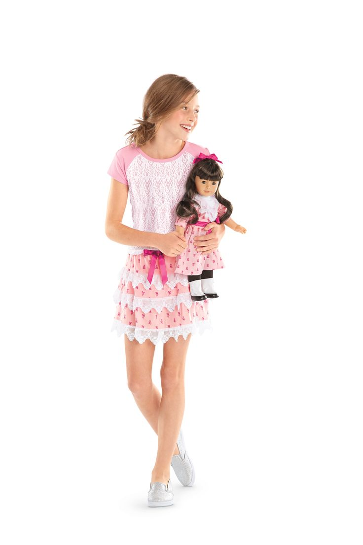 NEW! BeForever Special-Edition Sets  Samantha's Flower Picking Set + Lacy Tee and Tiered Skirt for Girls