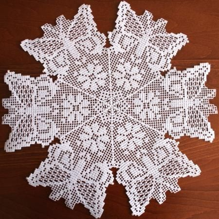 Advanced Embroidery Designs - FSL Crochet Butterfly Doily or Bowl