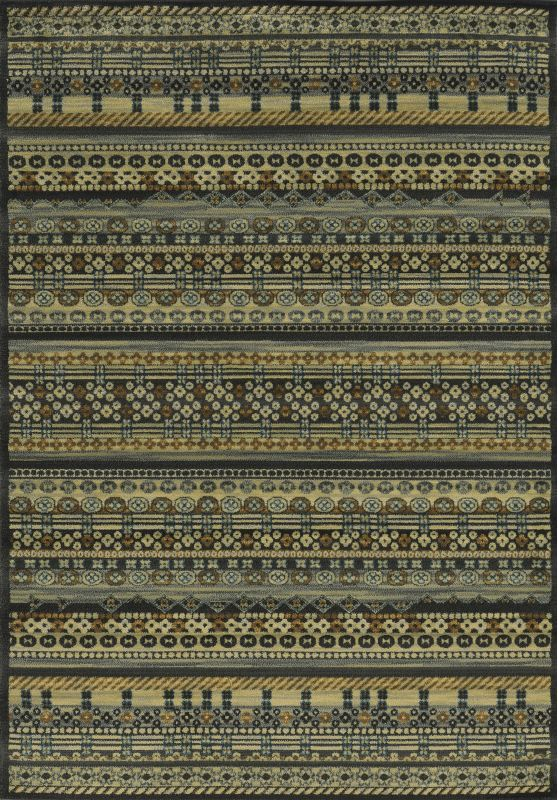 Rizzy Home SO4282 Sorrento Power Loomed Polypropylene Rug Black 9 3/4 x 12 1/2 Home Decor Rugs Rugs