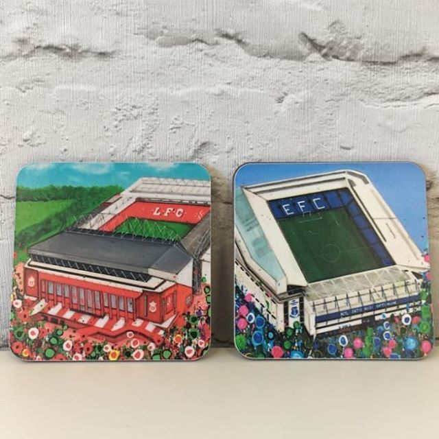 If you're a red or a blue then you can add a scouse twist to your cuppa with our boss Liverpool themed coasters (Other Liverpool themed designs also available!)