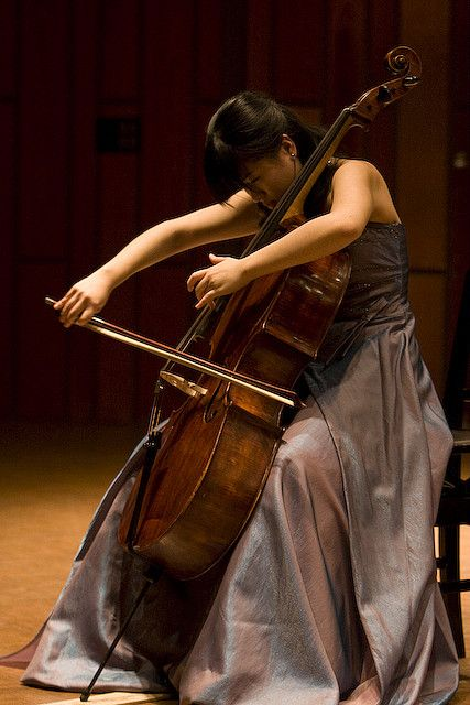 Is anything more beautiful than a passionate cellist at work?