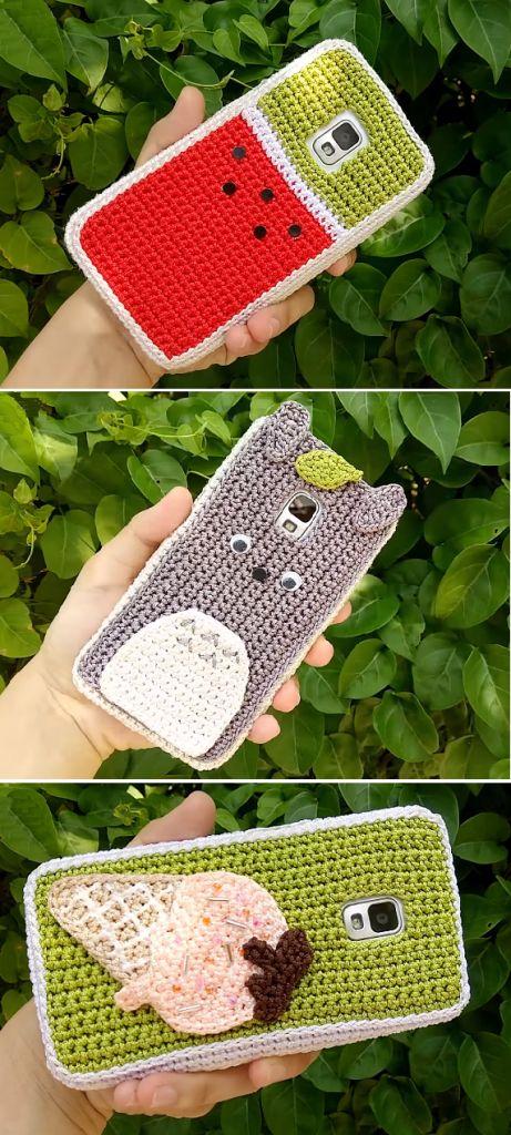 Häkeln Sie Telefon Fälle Wassermelone Eiscreme Totoro