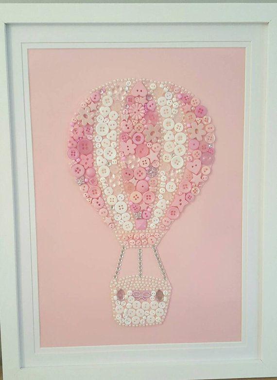 Foto de aire caliente globo imagen botón arte por Tooobabywithlove