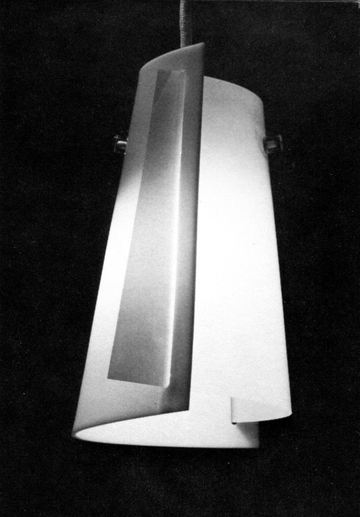 Opal acrylic pendant light designed by Lisa Johansson-Pape for Stockmann-Orno, 1954.