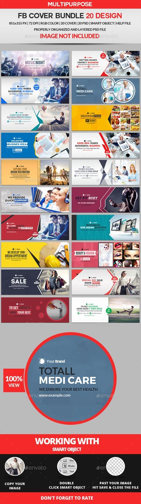 Facebook Cover Bundle Two 20 Design