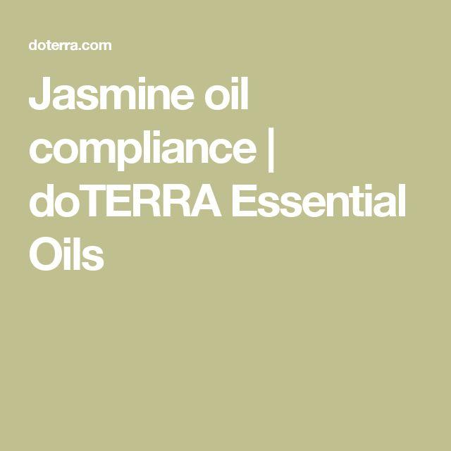 Jasmine oil compliance | doTERRA Essential Oils