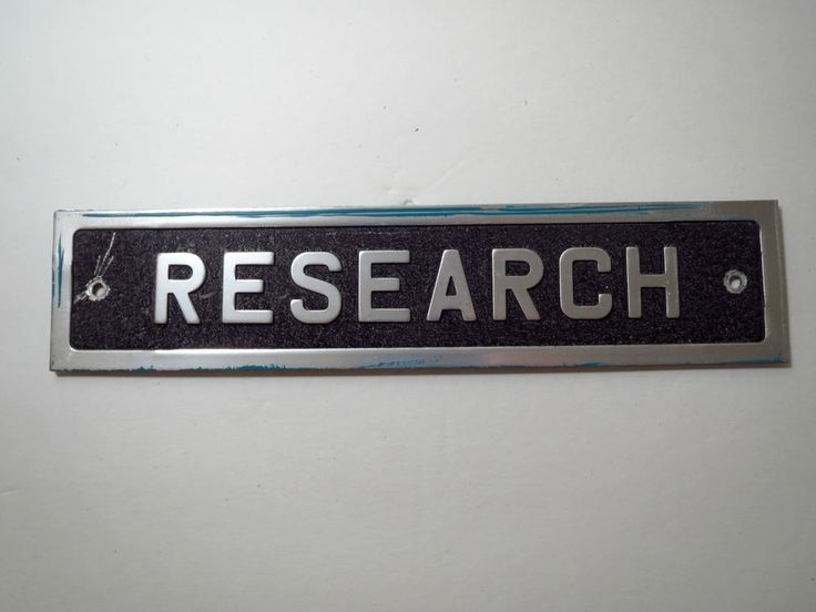 VTG 1970s Aluminum Metal Industrial Door Name Plate Room Sign Medical RESEARCH
