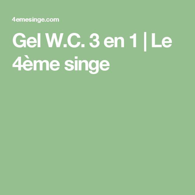 Gel W.C. 3 en 1 | Le 4ème singe