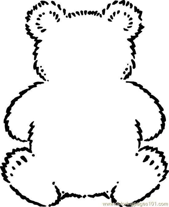Free Printable Coloring Page Teddybear Mammals Gt Bear