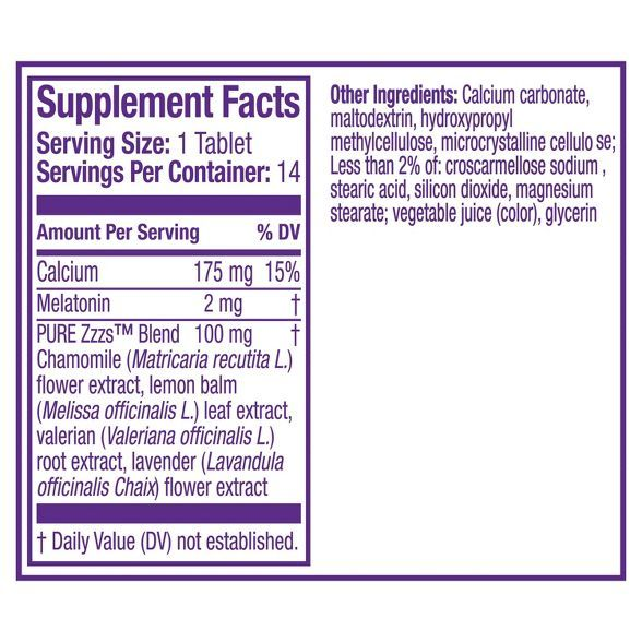Zzzquil Pure Zzzs All Night Tablets 14ct In 2021 Valerian Root Habit Forming Tablet