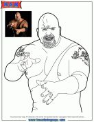 WWE Wrestling The Big Show Coloring Page