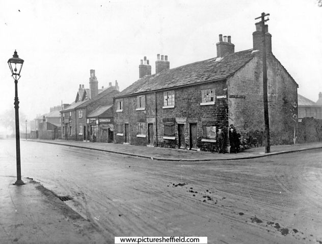 Junction of Bellhouse Road and Hatfield House Lane, Shiregreen, Horse Shoe Inn in background