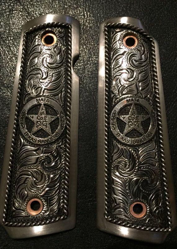 Texas Ranger 1911 Grips Custom by HDCustomPistolGrips on Etsy