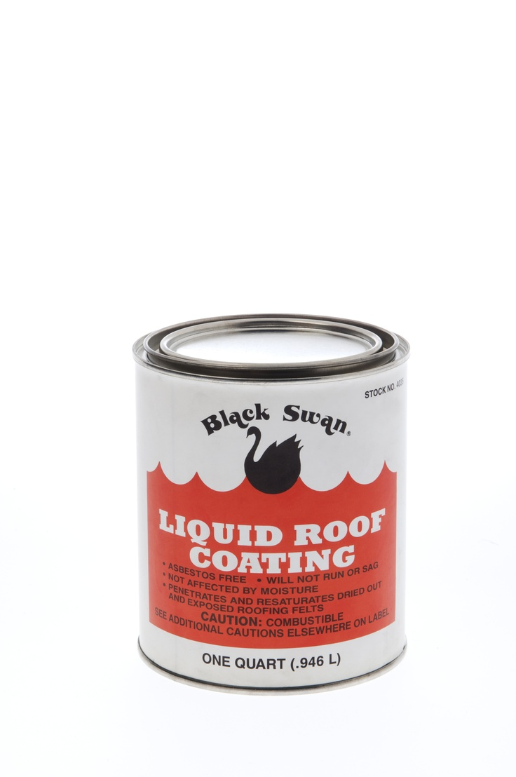 Black Swan Liquid Roof Coating Is A Heavy Bodied, Paint Like Consistency  Roof Coating.