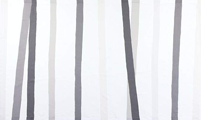 Huddleson Cinta Grey White Stripe Pure Linen Tablecloth 66x144