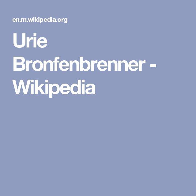 Urie Bronfenbrenner - Wikipedia