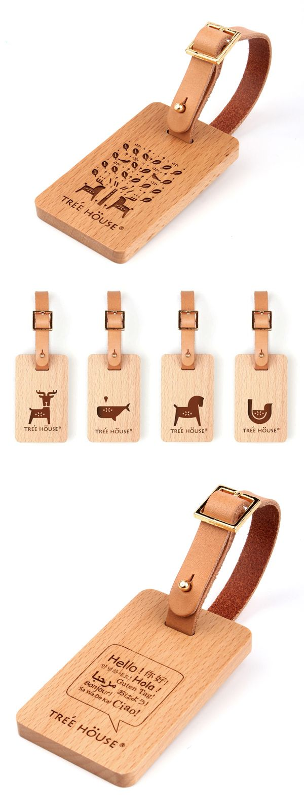 7 best Personalised Wood Luggage Tags images on Pinterest | Leather ...