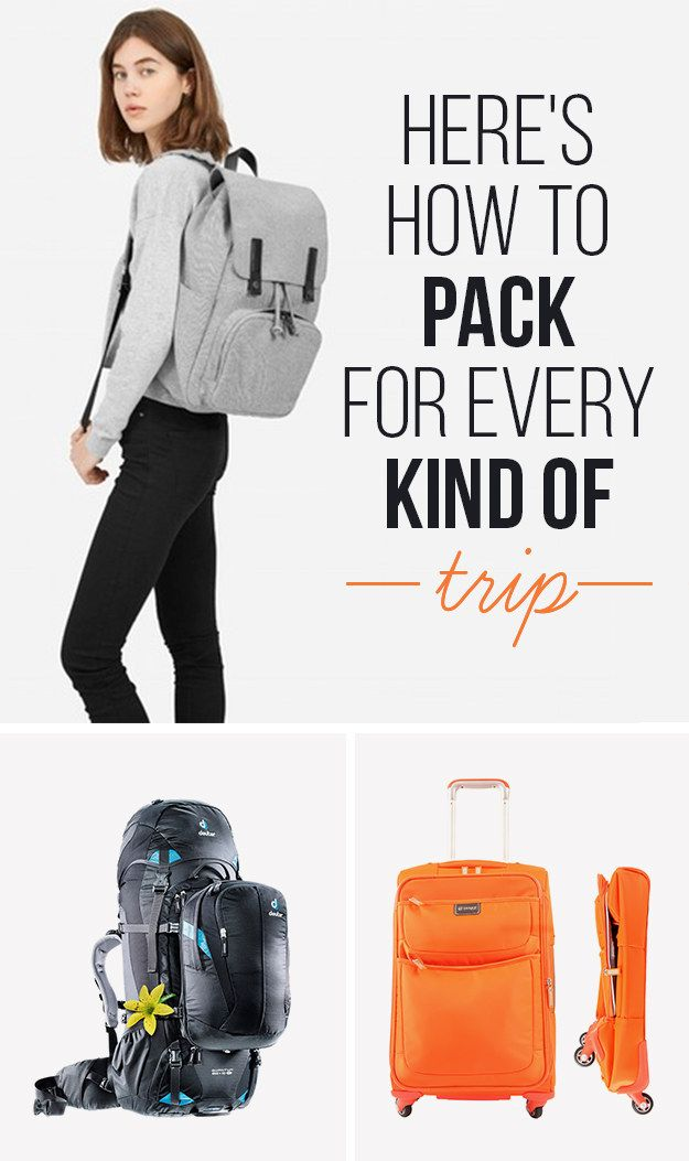 Here Are The Best Bags And Packing Tips For Every Trip