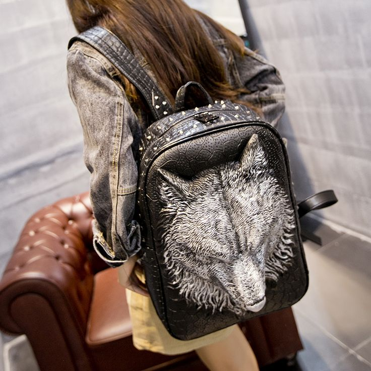 (69.30$)  Buy here - http://aiah5.worlditems.win/all/product.php?id=32800650701 - DUMI Men's backpack on the trend of Korean female personality PU creative fashion bag student bag