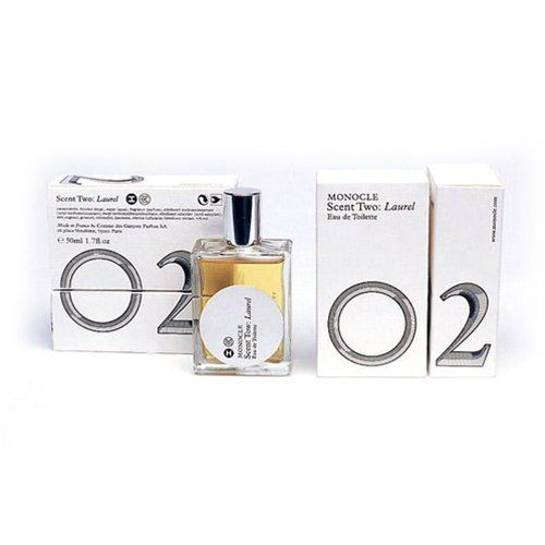 Comme des Garcons - Monocle Scent Two Laurel Eau de Toilette - 50ml by Comme des Garcons. $120.00. Monocle's 2nd fragrance with Comme des Garcons. Notes: Laurel, pepper, cedar, patchouli, incense, amber. Contains one - 50ml bottle of perfume. Laurel is Monocle's second fragrance in collaboration with Comme des Garcons. Inspired by a trip to the Bekaa Valley, it's a fresh, clean scent that has warm laurel notes. Developed by the same team that launched our Hinoki scent, it ...