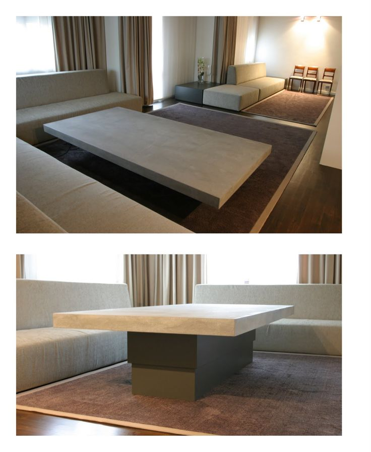 Coffee Table Lift Measures: 200 x 100 cm; height from 40 to 74 cm; plywood covered in marble. Powered by 2 oil pistons.