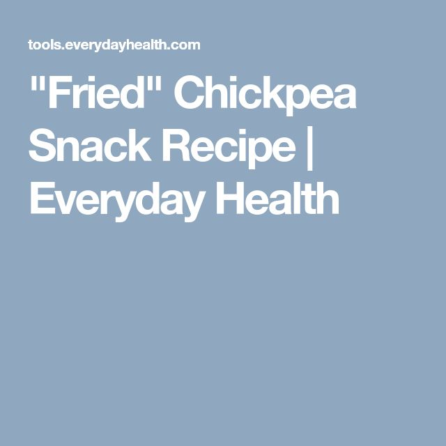 """""""Fried"""" Chickpea Snack  Recipe 