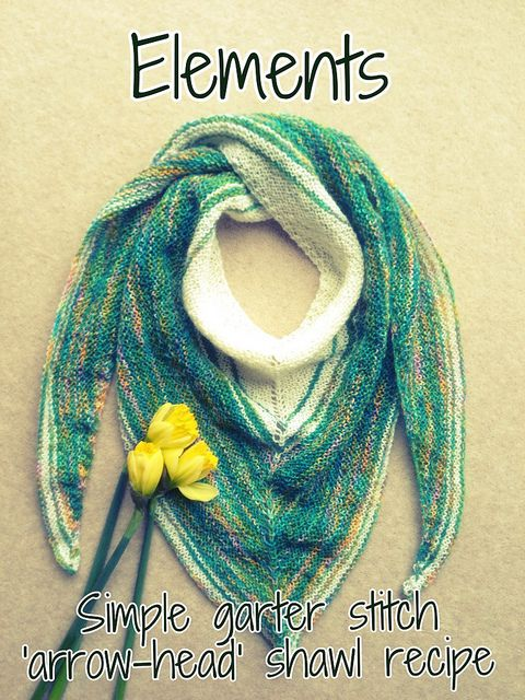 Knitting Styles For Beginners : Recipe for a simple garter stitch shawl shaped to sit