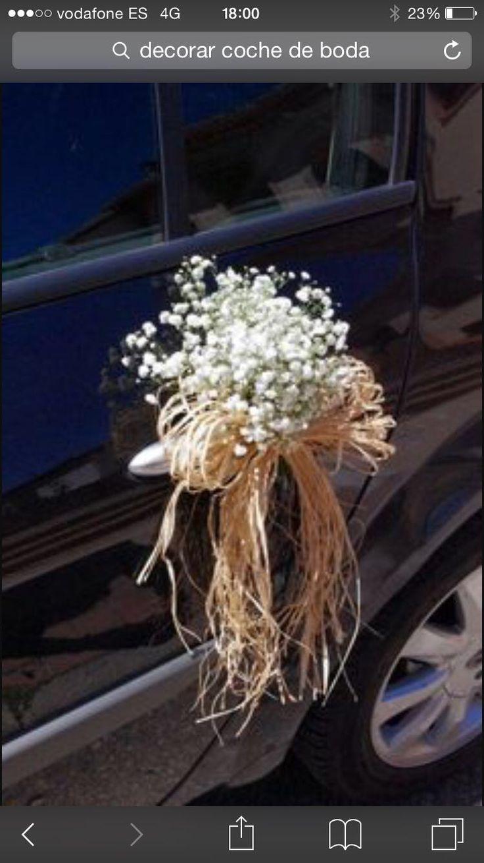 Wedding decorations on cars   best DécoVoiture images on Pinterest  Wedding car decorations