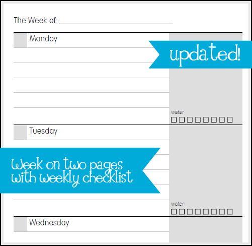 Planner Fun - free inserts, links, hacks & fun: Tweaking The Pages [printable]