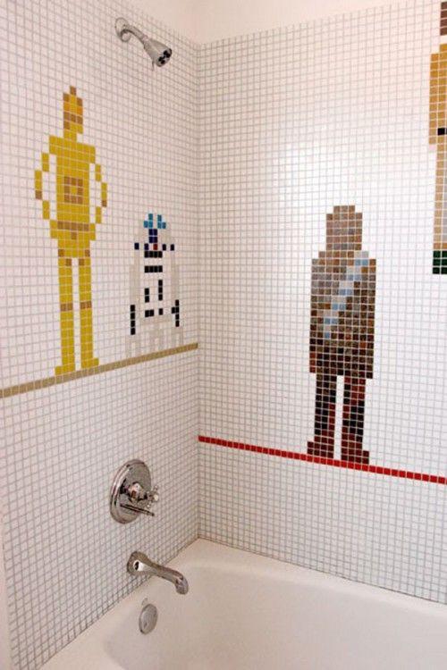 Star Wars Bathroom Tilework