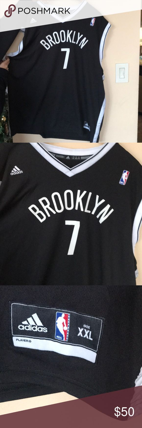 Men's Brooklyn Nets Lin adidas Black Jersey 2XL Material: 100% Polyester Jock tag Back neck taping – no irritating stitch on the back neck Dazzle and mesh jersey Screen print name, numbers & logos Embroidered NBA & adidas logos Rib-knit collar & arm holes Machine wash, tumble dry low Imported Brand: adidas adidas Other