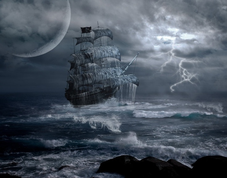Resultado de imagen de sea fog ship fantasy