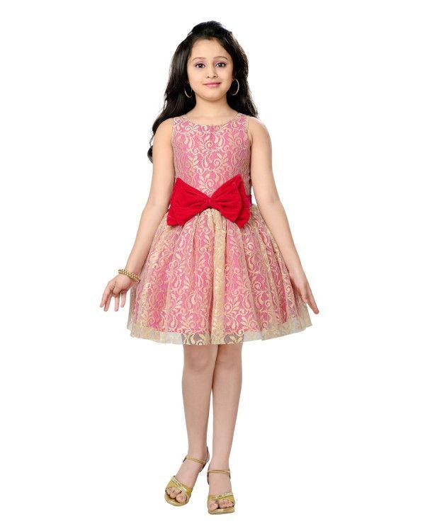 Beige & Pink Dress from K&U  www.kandukids.com