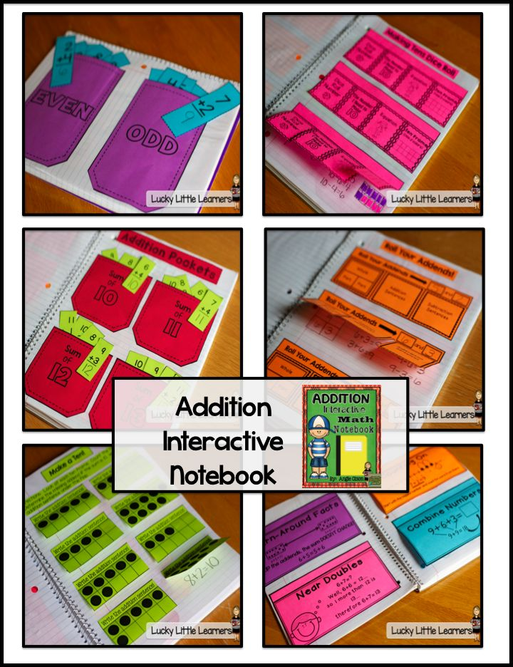 This Addition Interactive Math Notebook is a great way to start the year!  If you've never used them in your classroom before, this is the perfect product...very easy to assemble and real photos of what each page should look like!