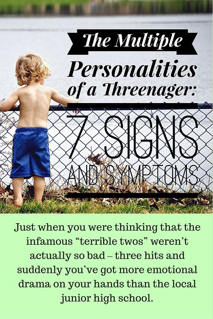 The Good Enuf Mommy: The Multiple Personalities of a Threenager: 7 Signs and Symptoms