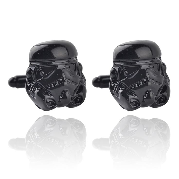 Christmas Anakin Skywalker Black Helmet Cool France Cuff Links For Men Fashion High Quality Gift Movie Jewelry Free Shipping
