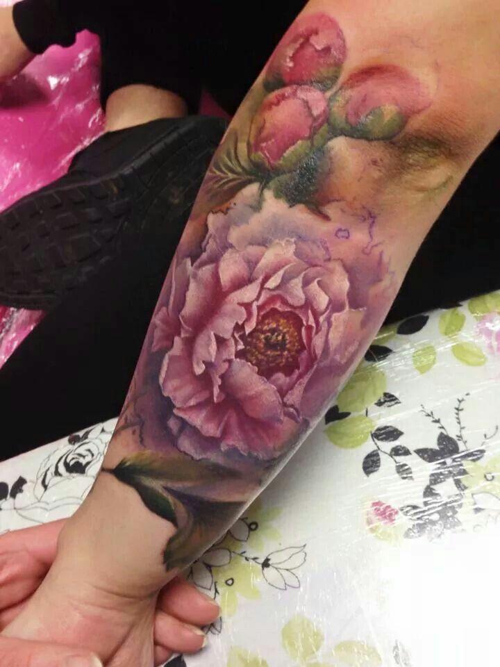 Watercolour bloem
