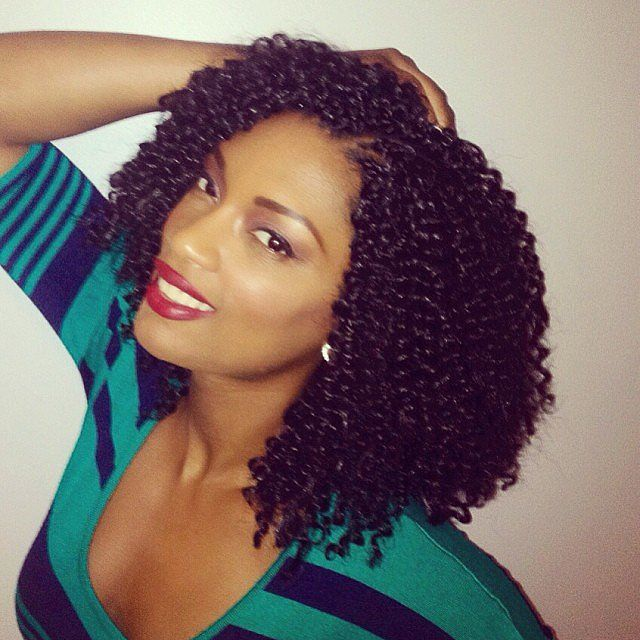 Crotchet braids with Freetress Water Wave hair. Super kay-ute