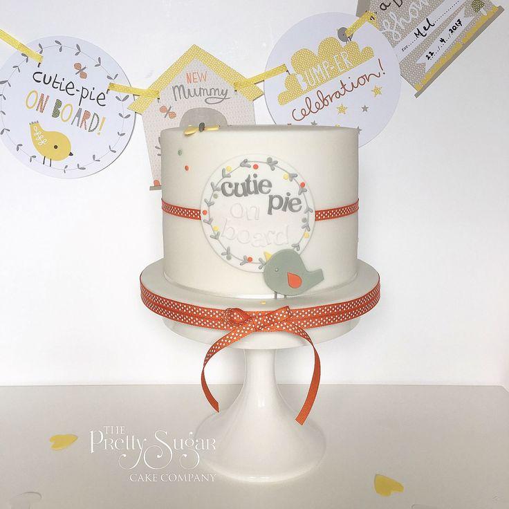 Brights baby shower cake