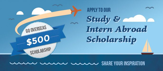 Go Overseas Study & Intern Abroad Scholarship - Now accepting applications! - Due May 6