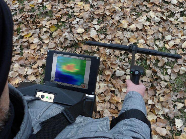 Bilder vom Bodenscanner und Metalldetektor eXp 6000