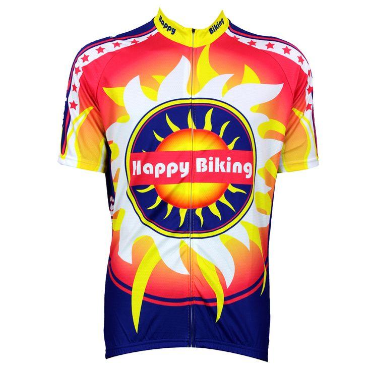 Bike jerseys Cycling equipment Cycling jerseys New Happy Biking Alien motoWear Mens Cycling Jersey Cycling Clothing Bike Motorcy #Affiliate
