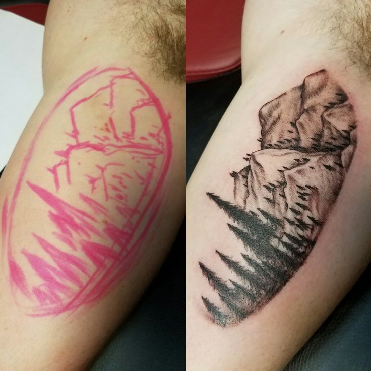 Tattoo by Greg Votaw  #tattoo #gregvotaw #inkdoneright #texas #moutains